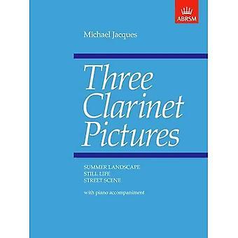 Tre immagini di clarinetto