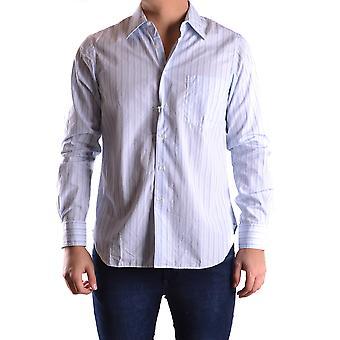 Aspesi Ezbc067053 Men's Light Blue Cotton Shirt