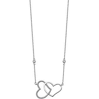 Necklace and pendant Lotus Silver MOMENTS LP1818-1-1 - necklace and pendant MOMENTS money heart woman