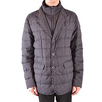 Herno Ezbc034020 Men's Grey Nylon Outerwear Jacket