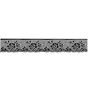 Stamperia Natural Rubber Stamp Lace with Rose