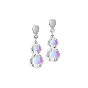 Evige kollektion Echo Aurora Borealis østrigske Crystal sølv Tone Drop klip på øreringe