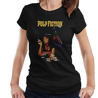 Pulp Fiction Classic Mia Uma Smoking Movie Poster Women's T-Shirt