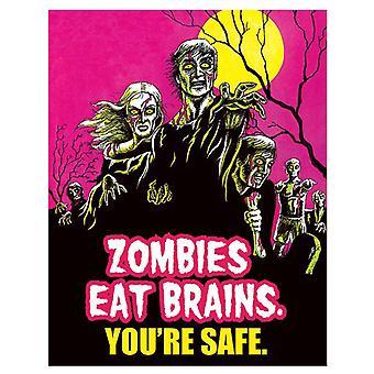 Zombies manger cerveaux signe d'étain