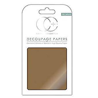 Craft Consortium Metallic Antique Gold Decoupage Papers