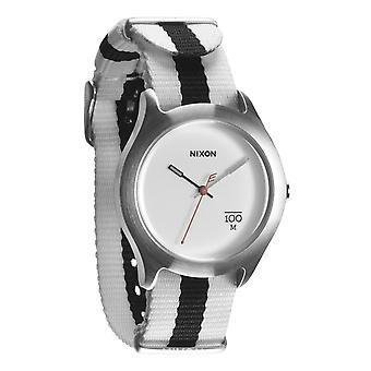 Nixon l'Uhr Quad blanc/noir en Nylon (A344177)
