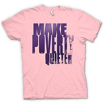 Womens T-shirt - Make Poverty Quieter - Brilliant Funny