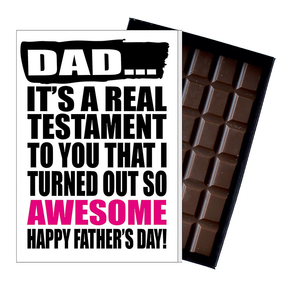 Funny Father's Day Gift Silly Chocolate Present Rude Card For Dad DADIYF122