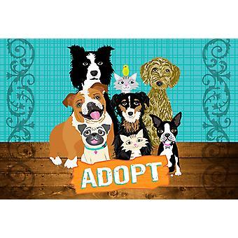 Carolines skatter VHA3007PLMT oppta pets adopsjon fabric underlag