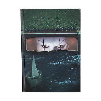 Stephen King Notizbuch Pennywise bedruckt, 200 Seiten, liniert, in Polybeutel.