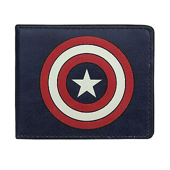 Captain America Shield Navy Bi-Fold Brieftasche