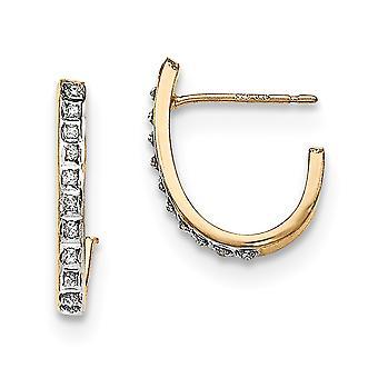 925 Sterling Silver 14k Gold Plated Diamond Mystique Post Hoop Earrings Jewelry Gifts for Women