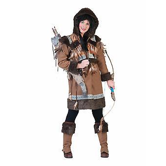 Eskimå kvinnors kostym Arctic North Grönland kostym Carnival Eskimofrau damer