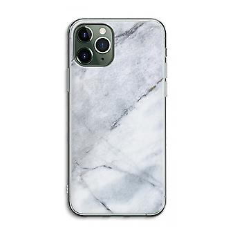 iPhone 11 Pro Max Transparent Case (Soft) - Marble white