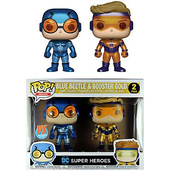 DC Comics Blue Beetle & Booster Gold Metallic US Pop! 2 Pk (Pk)