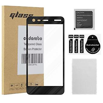 Cadorabo Full Screen Tank Foil for Nokia 2017 - Tempered Display Protective Glass in 9H Hardness with 3D Touch Compatibility