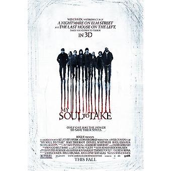 Min själ att ta affisch (Wes Craven) dubbelsidig (2010) original Cinema affisch