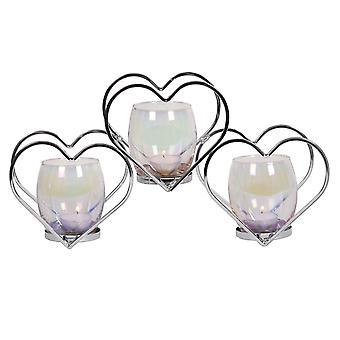 Straits Heart Triple Tealight Holder