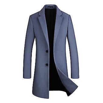 Allthemen Men's New Style Mid-Long Solid Lapel Overcoat
