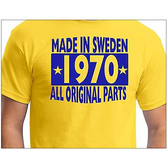 T-shirt jaune made in Sweden 1970 ALL original Parts