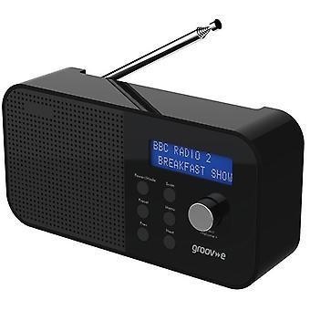 Groov-e Venedig bärbar DAB Radio svart (modell nr GVDR04BK)