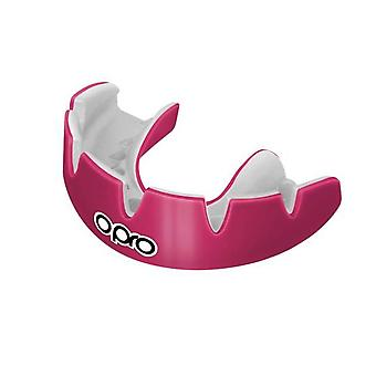 Opro Power Fit Braces Bocca Guardia Rosa/Bianco