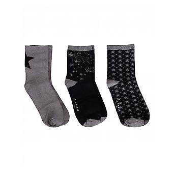 Ted Baker 3 Pack Star Socks