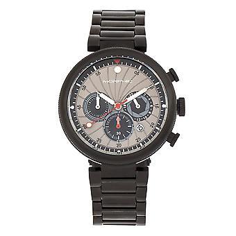 Morphic M87 Series Chronograph Bracelet Watch w/Date - Black/Grey