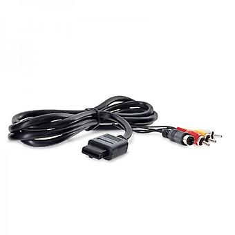Dual av cable with s-video & rca composite for snes (super nintendo) 1.8m (6ft) lead | zedlabz