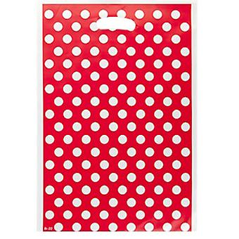 TRIXES 32 x 22cm Party Loot bags 8 Pack Red