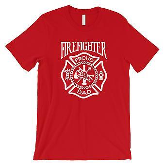 رجل الاطفاء داد الرجال الأحمر ممتنة تحفيزية لطيف قميص أبي هدية