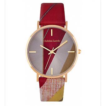 Christian Lacroix CLFS1804 Uhr - Damen Ledermuster Armband
