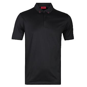 HUGO Dauter Short Sleeve Regular Fit Black Polo Shirt