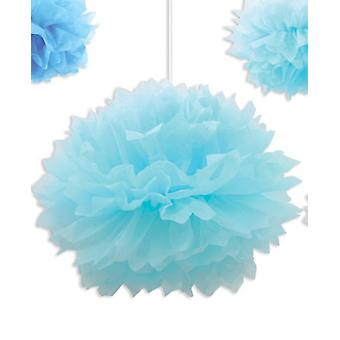 Light Blue Paper Fluff Ball Decoratie