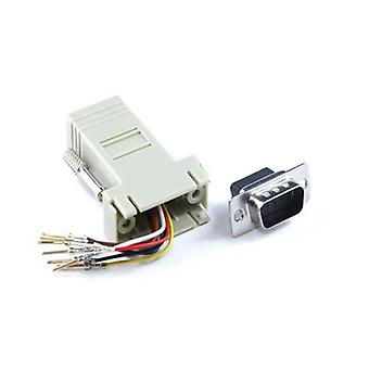 Adapter Rj45F do Db9M