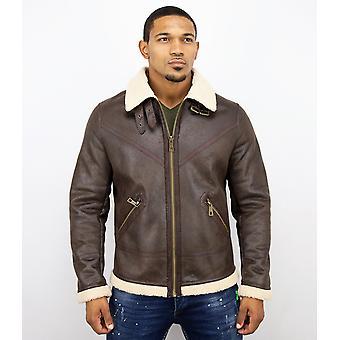 Men's faux fur coat – Lammy Coat – Brown