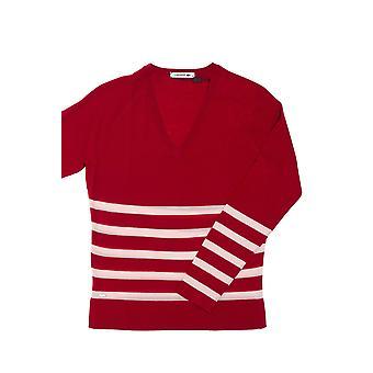 Red Pullover Lacoste Damen