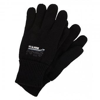 Superdry Orange Label Gloves Black 02A