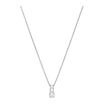 Swarovski Attract Trilogy Rhodium Plated & Clear Crystal Pendant