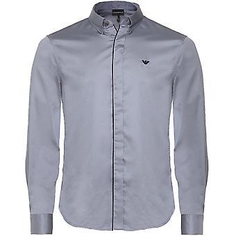 Armani Slim Fit Contrast Trim Shirt