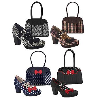Ruby shoo kvinnor ' s Crystal Mid Heel Mary Jane skor & matchande Kobe Bag