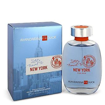 Mandarina duck let's travel to new york eau de toilette spray by mandarina duck 548952 100 ml