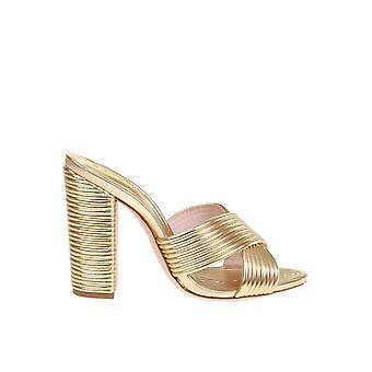 Schutz S2014804080007 Women's Gold Leather Sandals