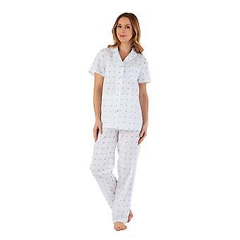 Slenderella PJ55234 Women's Spotty Cotton Pyjama Set