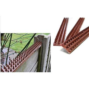 4.4m Pack Of 9 Security Fence Wall Spikes Cat Repeller Deterrent Intruder Repellent