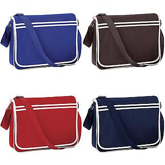 Bagbase Retro Adjustable Messenger Bag (12 Litres) (Pack of 2)