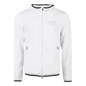 EA7 Emporio Armani Lightweight Hooded Jacket White 8NPB04 PNN7Z