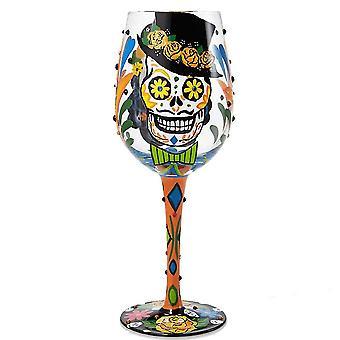 Lolita Sugar Skulls Wine Glass