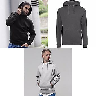 Build Your Brand Mens Heavy Pullover Hoodie