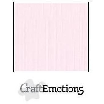 CraftEmotions linnekartong 10 Sh baby rosa 30,0x30,0cm / LC-18
